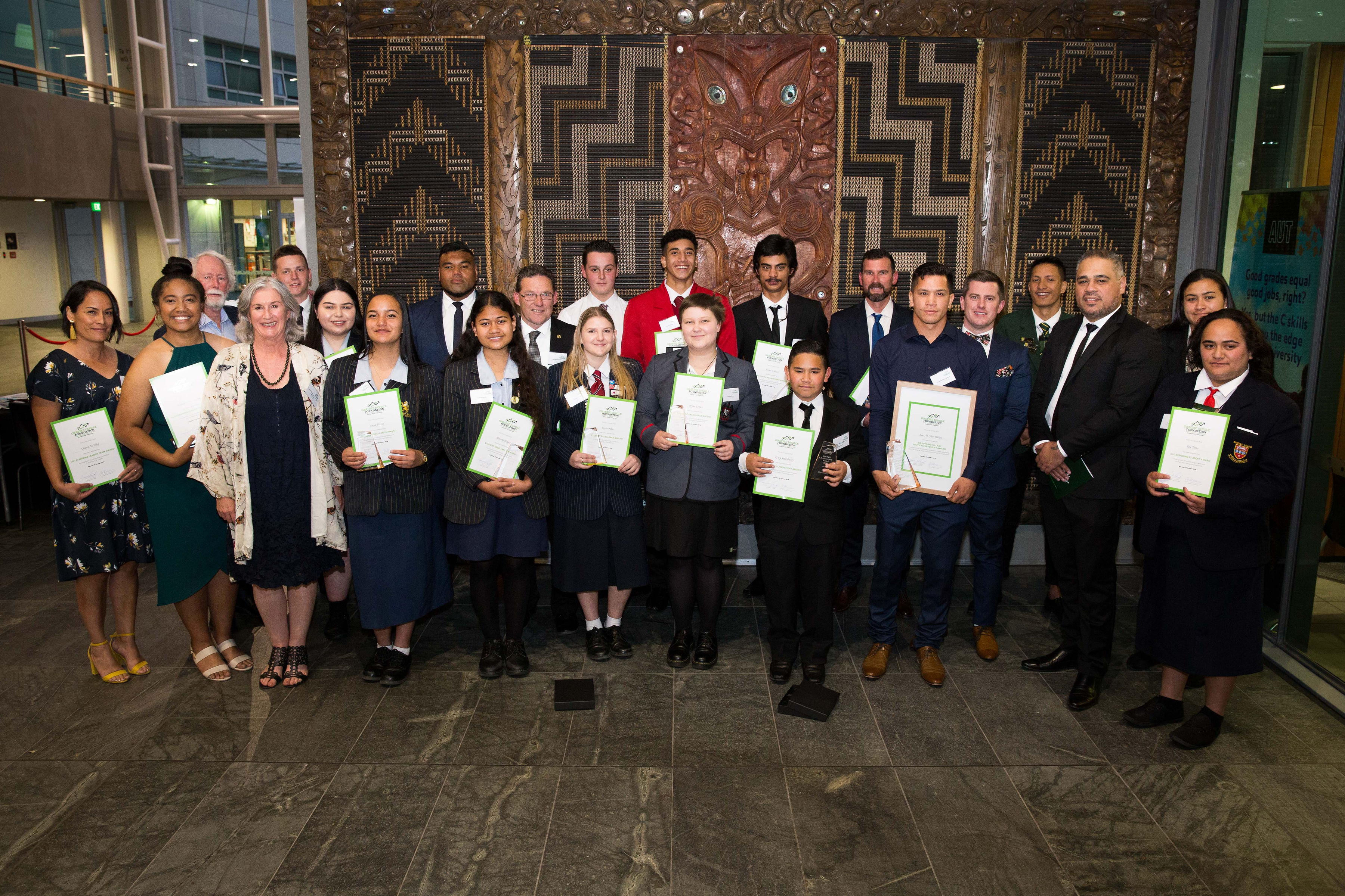 Graeme Dingle Foundation Excellence Awards 2018 Honours Exceptional and Resilient Young New Zealanders
